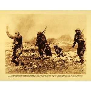 1920 Rotogravure WWI Military Protective Gas Masks War Death