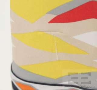 BCBG Max Azria Multicolor Print Jersey Wrap Dress Size Small