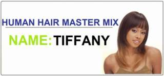 TIFFANY FULL WIG HUMAN HAIR BLEND MIX WIGS MILKY WAY