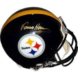 Franco Harris Hand Signed Steelers Helmet Sports