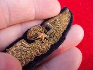 ULTRA RARE WWII OSS Chinese Commando gold bullion jump wings!