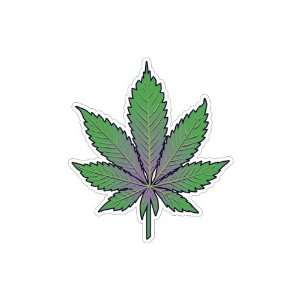 Pot Leaf  Marijuana Leaf   Indica (Bumper Sticker)