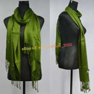Solid Color Pashmina Cashmere Shawl Wraps Scarf WPS 19