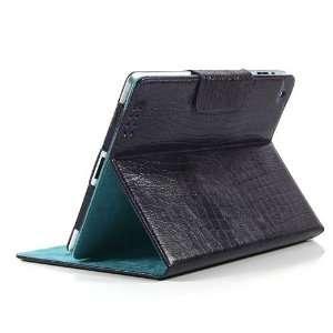 ZuGadgets Purple / Crocodile Pattern Leather Stand Case