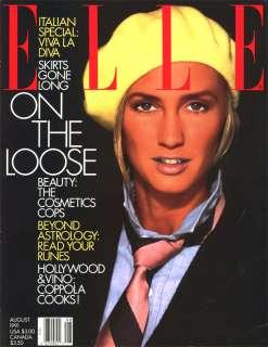 ELLE Aug 1991 Kim Nye Famke Janssen Lauren Lindberg NEW