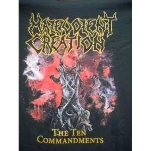 MALEVOLENT CREATION THE TEN COMMANDMENTS T SHIRT SIZE