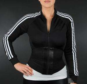 JEREMY SCOTT Adidas ELASTICATED Corset Zip JACKET S NWT