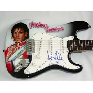MICHAEL JACKSON Autographed Signed AIRBRUSH Guitar UACC