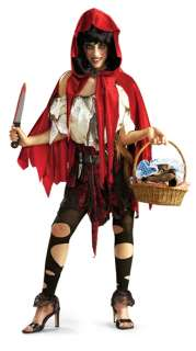new womens adult little red riding hood costume horror Halloween cloak