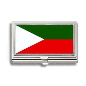 Jammu Kashmir Flag Business Card Holder Metal Case Office