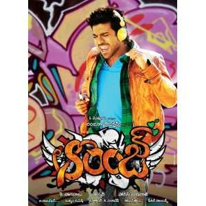Movie Indian G 11 x 17 Inches   28cm x 44cm Ram Charan Teja Genelia