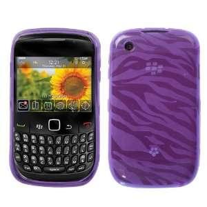 Curve 3G 8520 9300 Purple Zebra Skin Candy Skin Cover + LCD Screen
