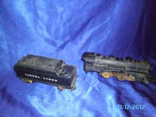 VINTAGE LIONEL #1130 LOCOMOTIVE & TENDER LETTERED CAB #1130
