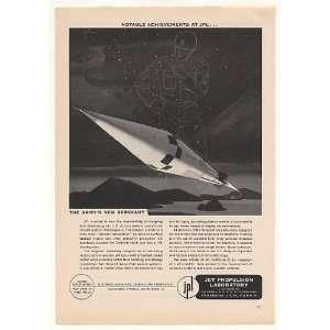 1958 JPL Jet Propulsion Lab US Army Sergeant Missile Print