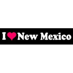 8 I Love Heart New Mexico State Vinyl Decal Sticker