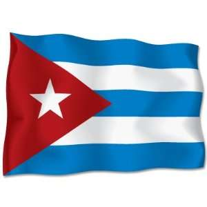 Cuba Flag car bumper sticker decal 6 x 4 Automotive
