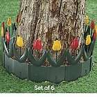 Pc TULIP DESIGN GARDEN BORDER/FENCING SET trees ~NEW~ ***FREE
