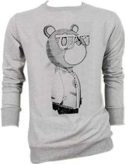 Kanye West Graduation Bear DJ Rap Sweater Jacket S,M,L