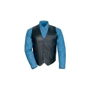 Tour Master Leather Vest without Laces   Large/Black
