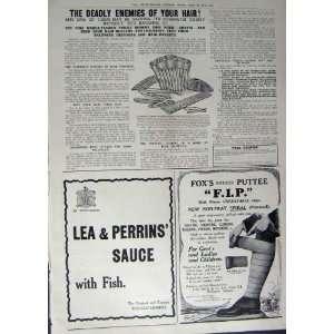 1912 ADVERTISEMENT SCRUBBS AMMONIA LEA PERRINS F.I.P