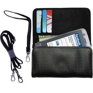 Black Purse Hand Bag Case for the LG GT400 with both a