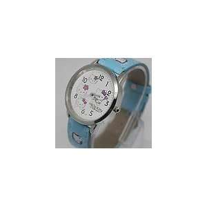Cute Hello Kitty Blue Band Watch + Hello Kitty Pouch & Extra Battery