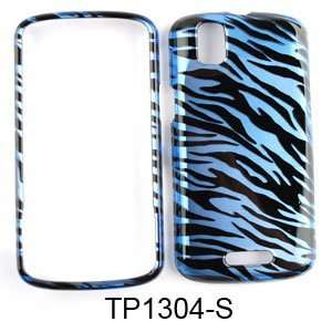 Blue Zebra Stripes Pattern Snap on Cover Faceplate for