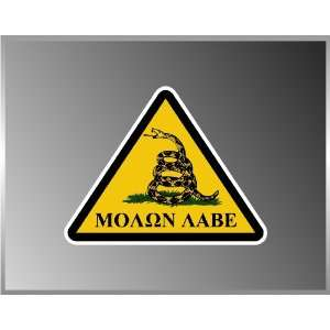 Dont Tread on Me Molone Labe Come and Take It Vinyl Decal