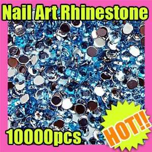10000 rhinestone decoration nail art light blue 165