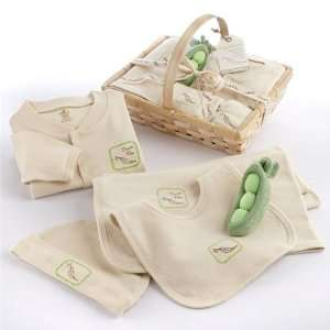Sweet Pea Five Piece Organic Layette Baby Gift Set