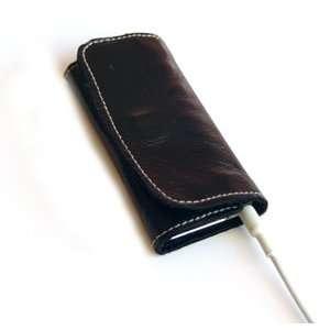 iPod Nano Leather Sleeve/Case Black