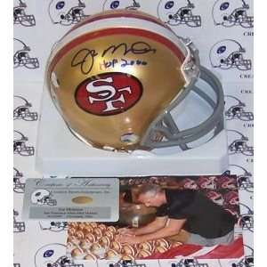 Joe Montana Hand Signed San Francisco 49ers Mini Helmet