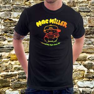 MAC MILLER Incredibly Dope Cartoon Parody T Shirt A6b