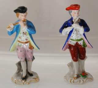 OCCUPIED JAPAN~HAND PAINTED COLONIAL FIGURINES~FLUTE