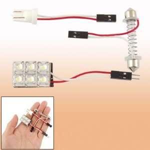 Ultra White Color 1pcs 6 LED Car Interior Lights 12v, 3