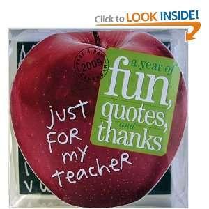 Teacher Page A Day Die Cut Calendar 2009 (Page a Day Die Cut Calendars