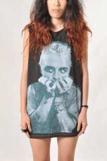 Billy Joe POP ART Green Day Women Oversize Sleeveless GrayT Shirt