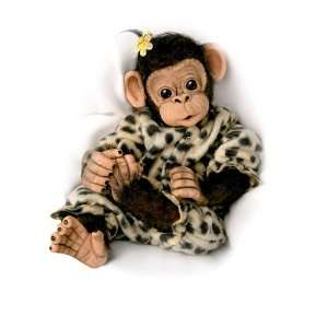 Cuddled Lifelike Baby Chimpanzee Monkey Doll Collection Toys & Games