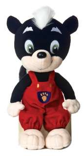 Wild Animal Baby Explorers Sammy Skunk Plush Toy NEW!