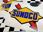 SUNOCO RACE FUELS Old Style Rally Indy Hot Rod Car Stickers Decals 2