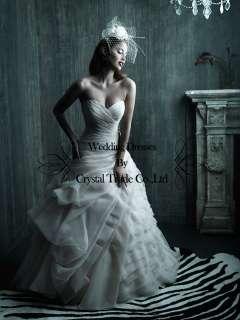 New wedding bridal dress Prom gown custom / US size 2 4 6 8 10 12 14