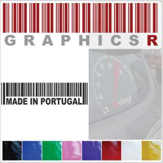 Sticker Decal Vinyl Graphic Window Wall Barcode Pride Made In Portugal
