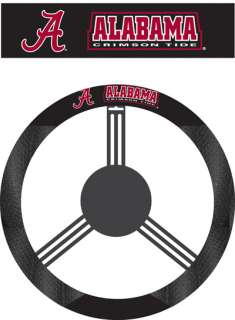ALABAMA CRIMSON TIDE SUEDE CAR STEERING WHEEL COVER