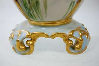 ANTIQUE ART NOUVEAU CAC AMERICAN BELLEEK DAFFODIL FLOWERS PORCELAIN
