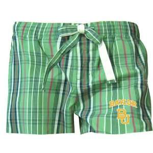 Baylor Bears Womens Green Spectrum Boxer Shorts