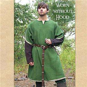 ROBIN HOOD Sherwood Forest GREEN ARCHER TUNIC with HOOD