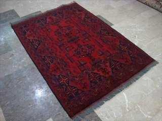KHAL MUHAMADI FINE AFGHAN HAND KNOTTED RUG CARPET 5x3
