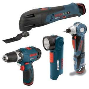 Bosch CLPK41 120 RT 12V Max Cordless Lithium Ion 4 Tool Combo Kit