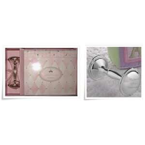 Baby Silver Plated Rattle & Photo Album Gift Set Baby