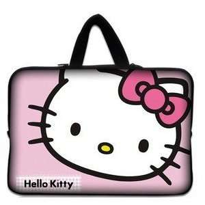 14 Pink Big Face Pattern Hello Kitty Style Laptop Case